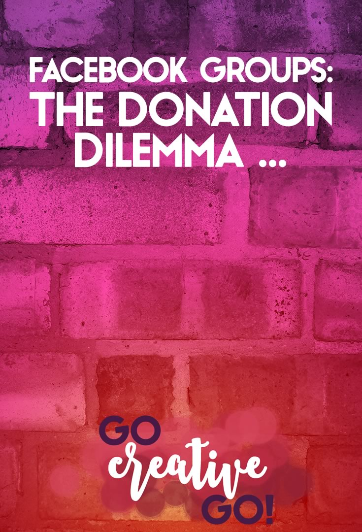Facebook Group Discussions: The Donation Dilemma