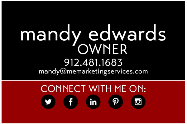 ME Marketing Services: Business Card Design
