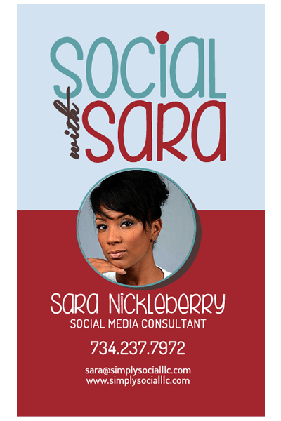 Social With Sara: Business Card Design